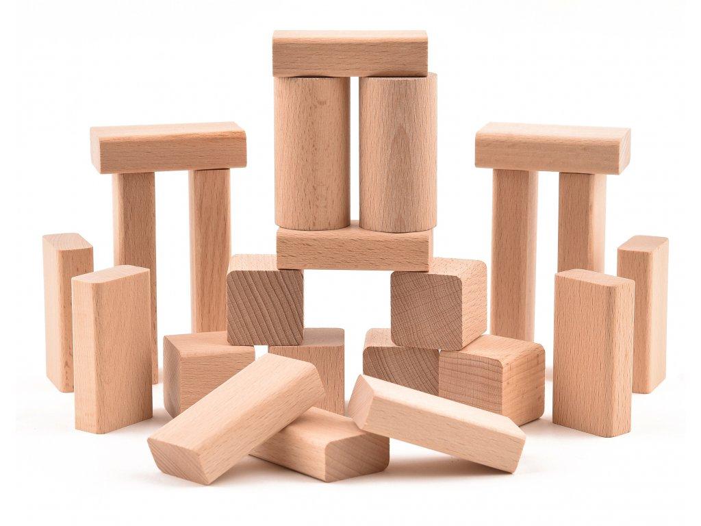 """Dřevěná stavebnice """"VictorCube"""" - malá sestava -23 ks"""