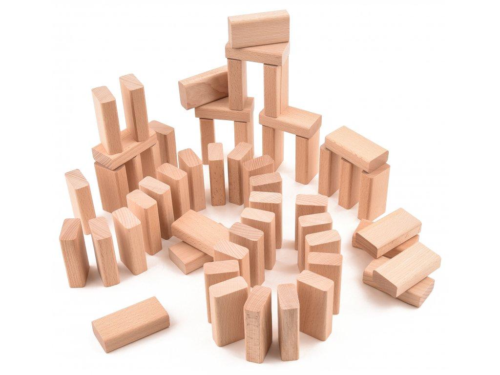 """Dřevěná stavebnice - malé desky - 55 ks """"VictorCube"""""""