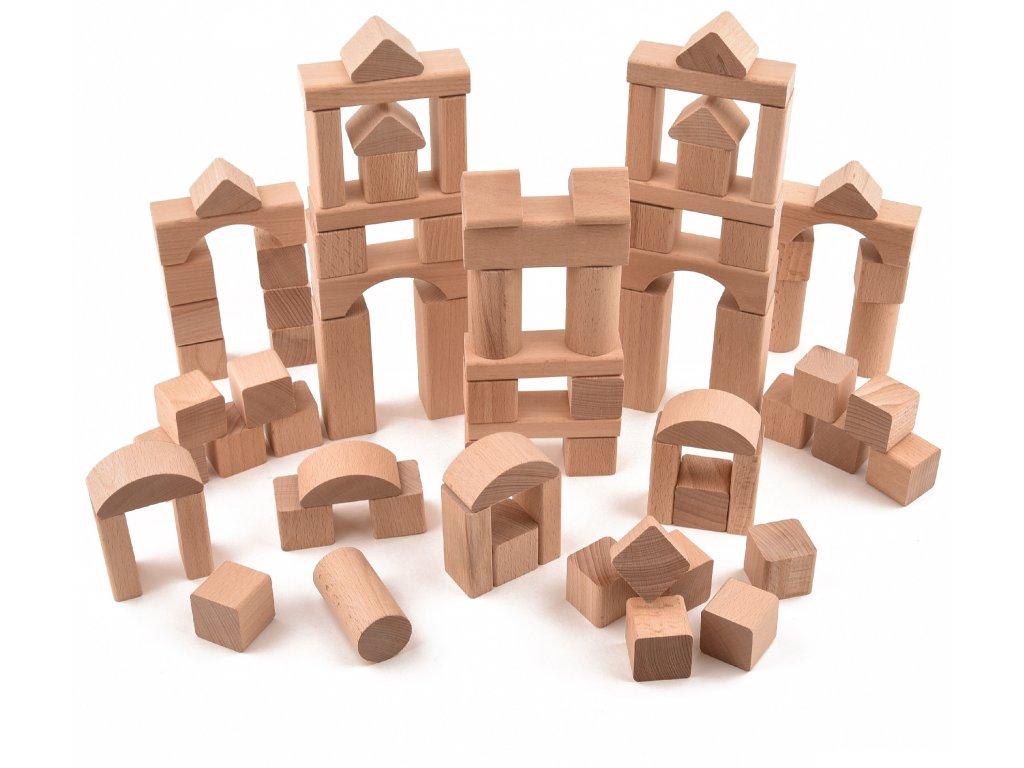 """Dřevěná stavebnice """"VictorCube"""" - 81 ks"""