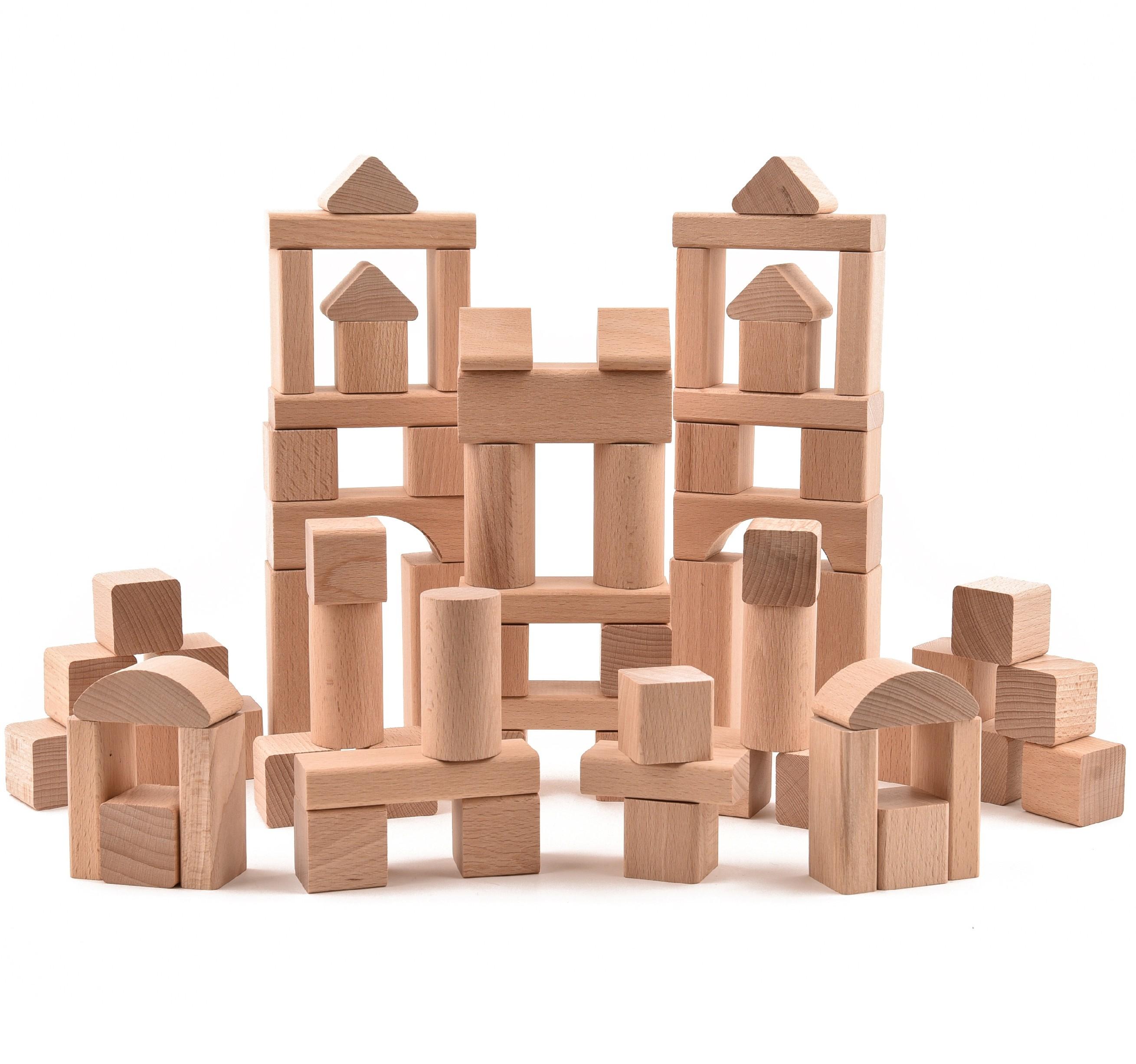 VictorCube Dřevěná stavebnice - 72 ks komponentů (+ pytlík)
