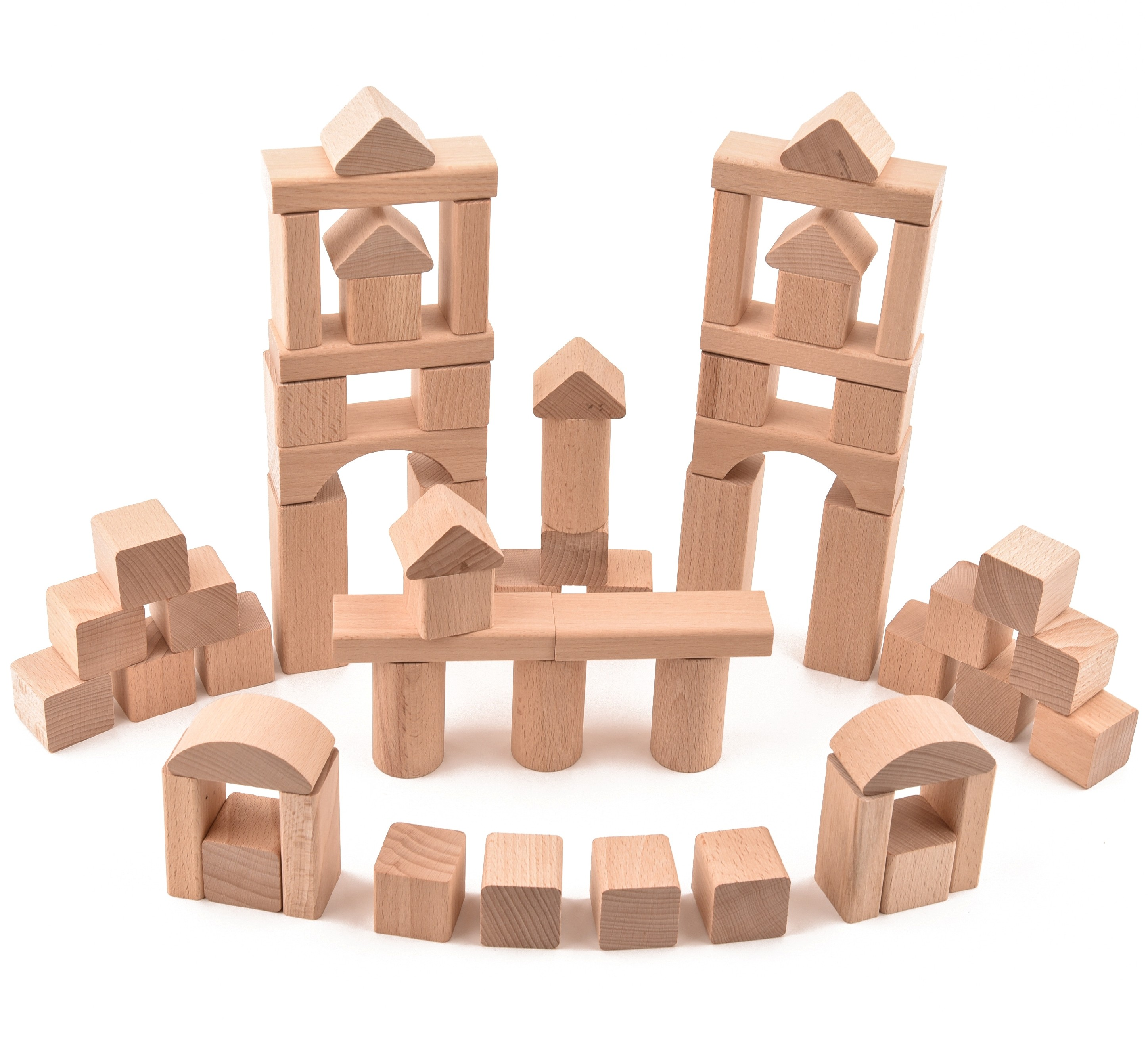 VictorCube Dřevěná stavebnice - 62 ks komponentů (+ pytlík)