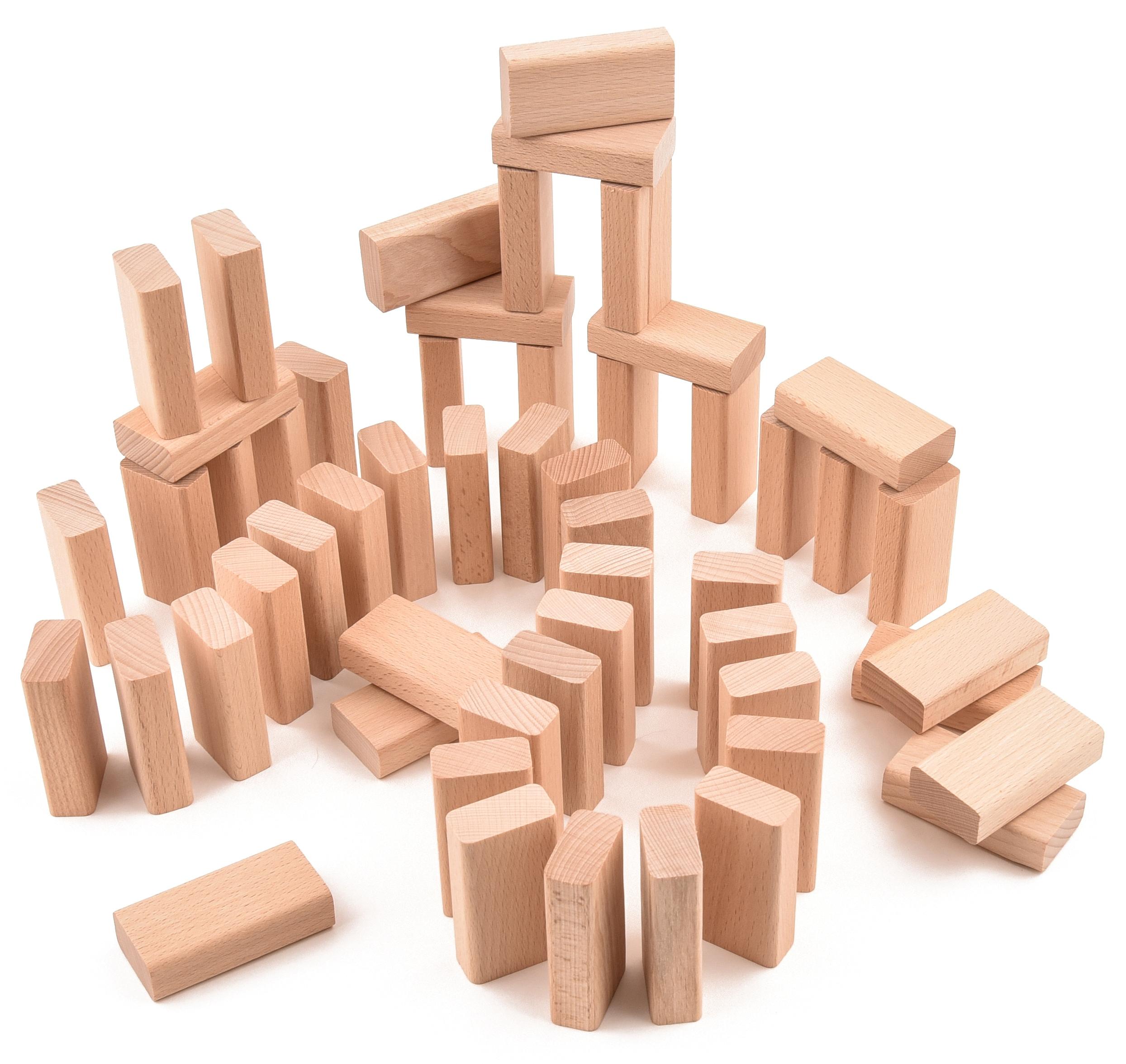 VictorCube Dřevěná stavebnice - malé desky - 55 ks (+ pytlík)