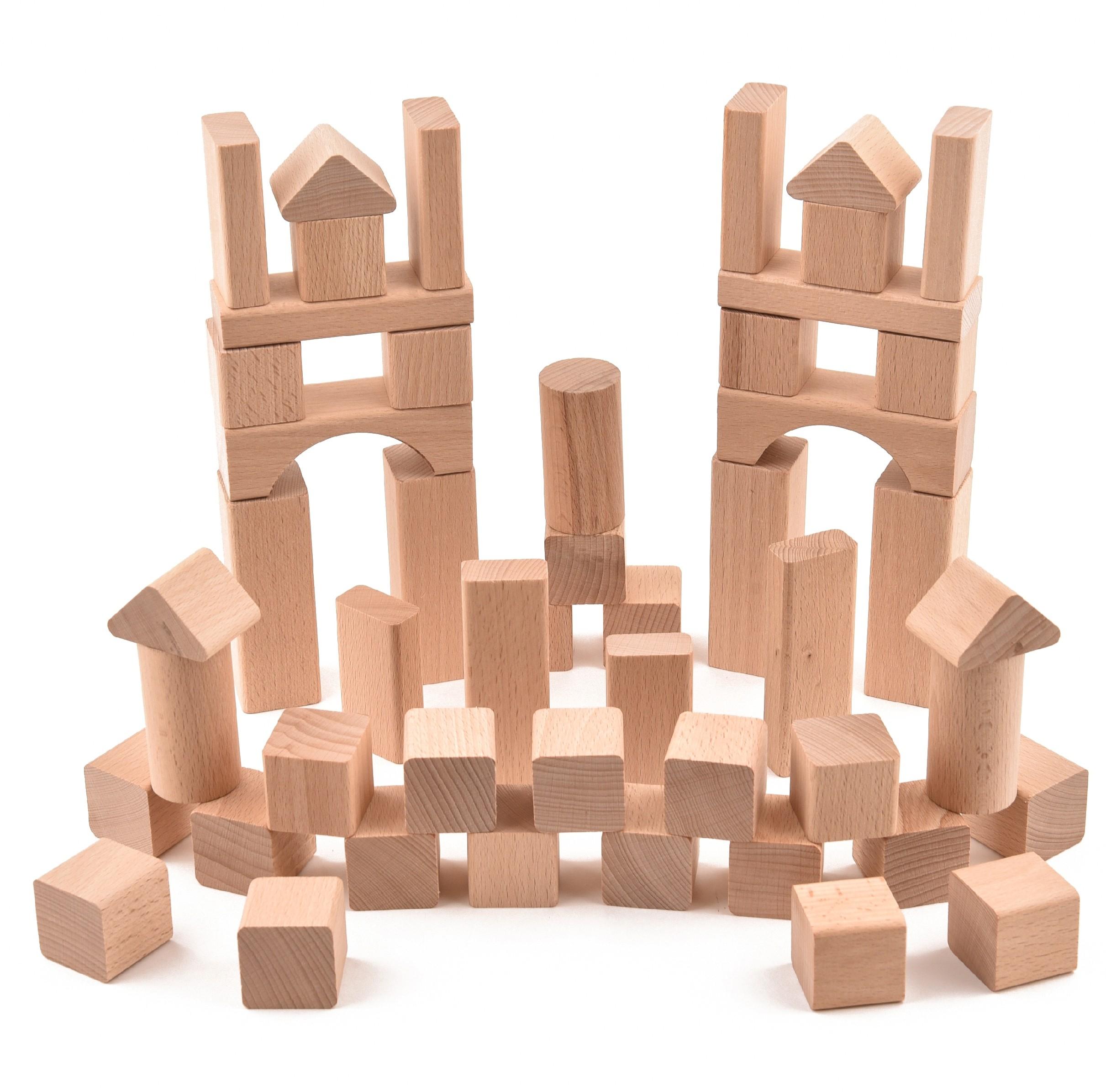 VictorCube Dřevěná stavebnice - 51 ks komponentů (+ pytlík)