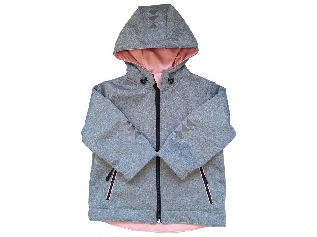 Dívčí softshellová bunda melír zimní