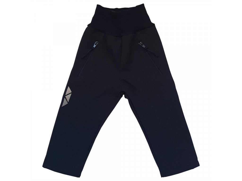 Dětské softshellové kalhoty černé zimní
