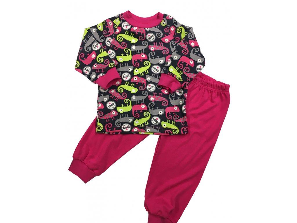 Dětské pyžamo dívčí chameleon