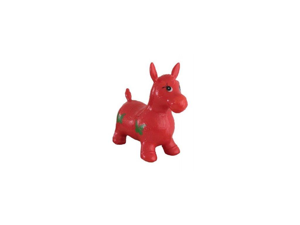 Hopsadlo kůň skákací červený