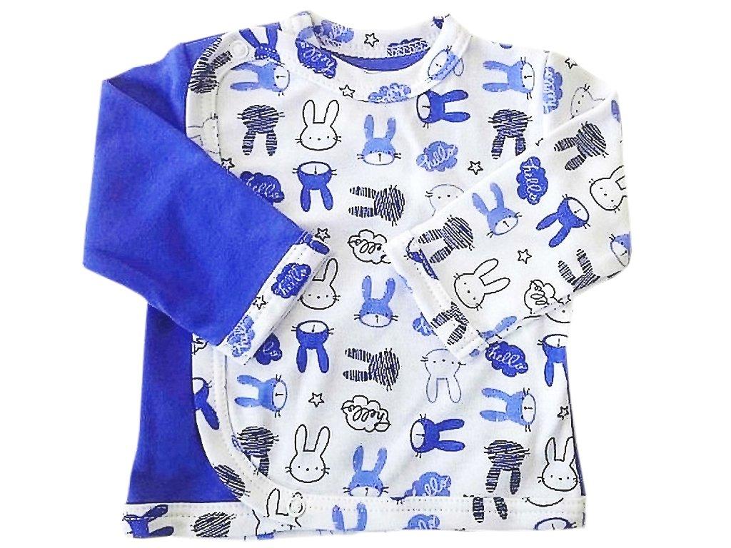 Kojenecký kabátek zajíc modrý