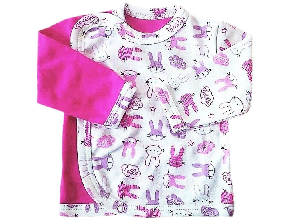 Kojenecký kabátek zajíc růžový
