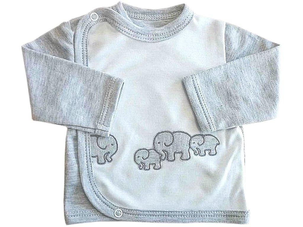 Kojenecký bavlněný kabátek slon šedý