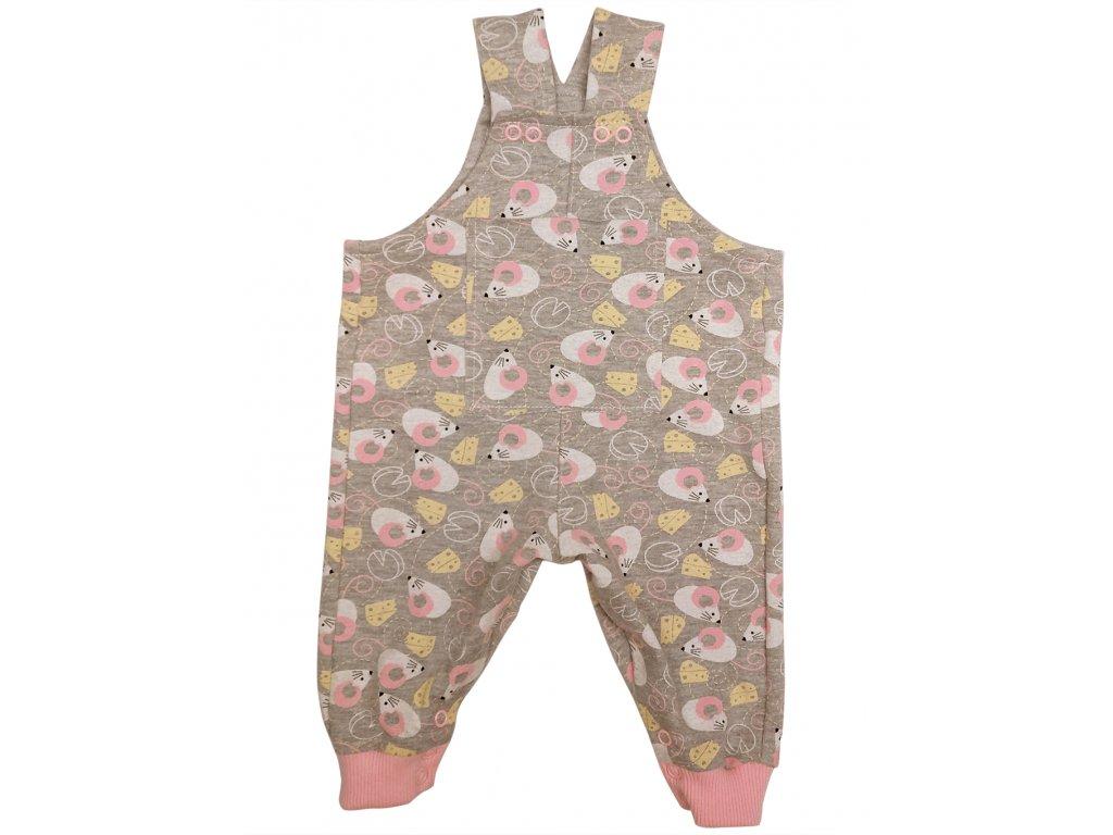 Dětské kalhoty s laclem myšky 2019