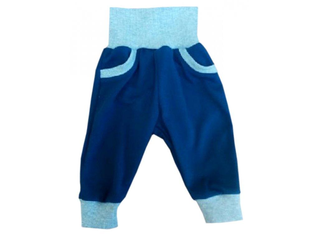 Dětské tepláky modrošedé elastické