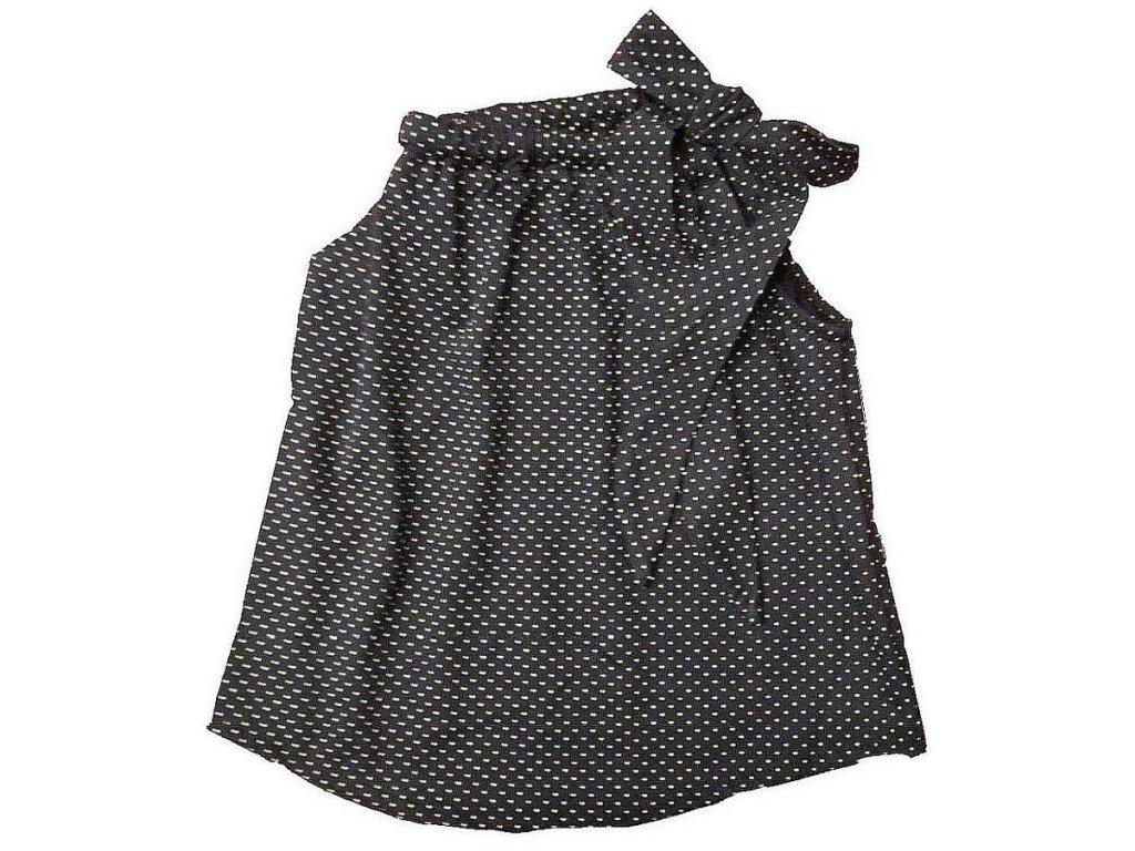 Dívčí bavlněné šaty granátové s bílými puntíky