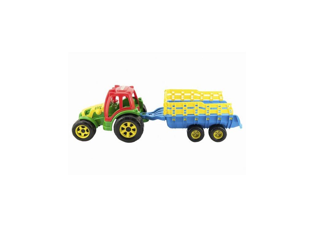 DĚTSKÁ HRAČKA Traktor s vlekem plastový