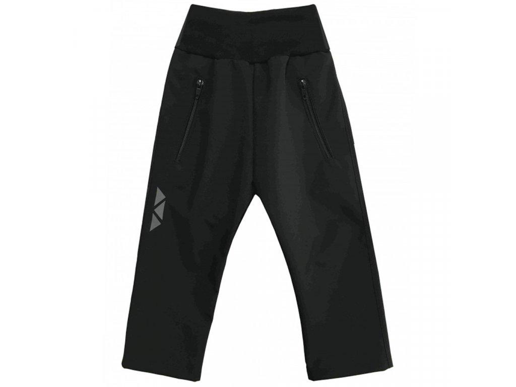 Dětské softshellové kalhoty letní černé