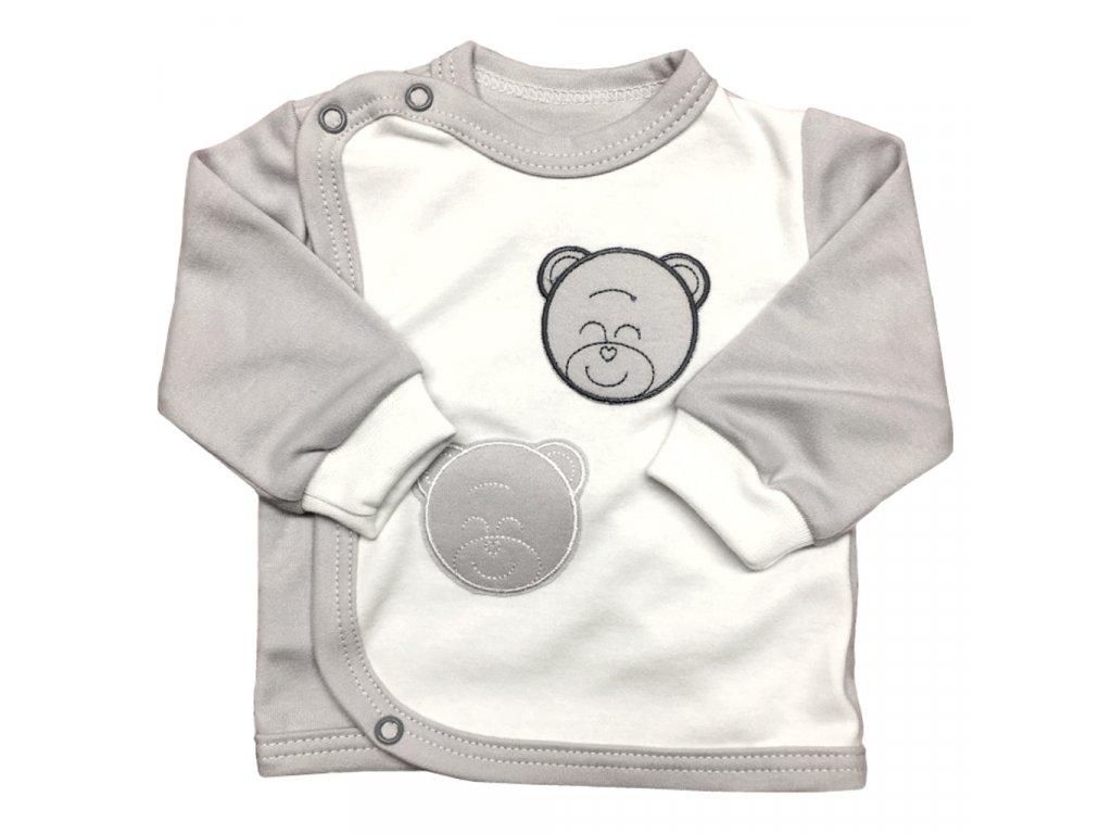 Kojenecký kabátek šedý medvěd