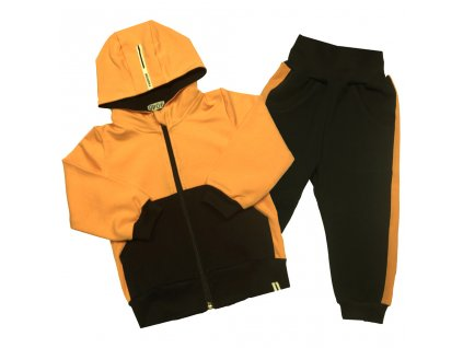 divci chlapecka oranzova souprava s kapuci