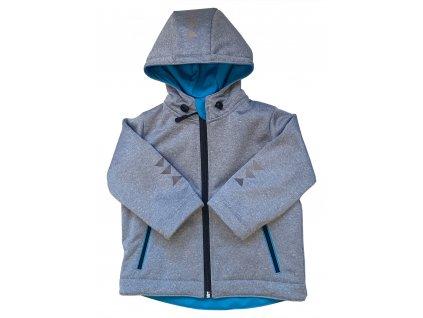 Chlapecká softshellová bunda melír zimní