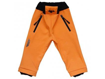 Dětské softshellové kalhoty hořčicová zimní