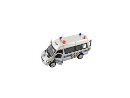 Auto policie se světlem a zvukem