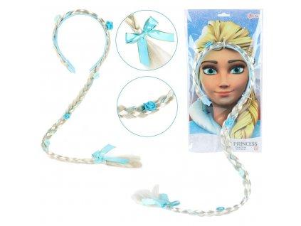 Čelenka s copem princezna Elsa z Ledového království