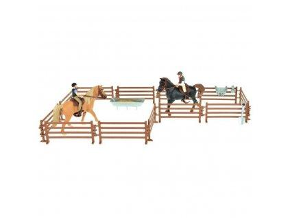Zvířátka farma - kůň + žokej - 2 sady
