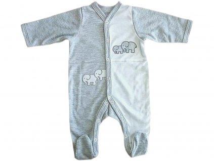 Dětský a kojenecký overal slon šedý