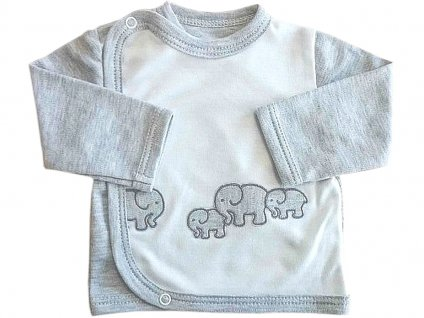 Kabátek slon šedý