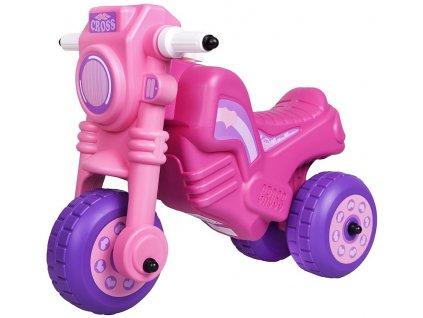 Dětské odrážedlo Cross Bike růžové
