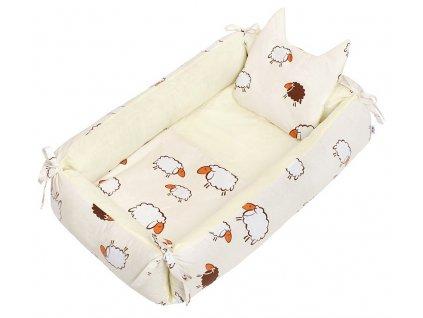 Hnízdečko pro miminko New Baby ovečky béžové