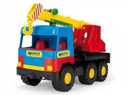 DĚTSKÁ HRAČKA Autojeřáb Middle Truck modro-červený