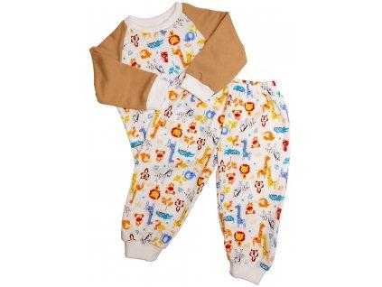 Dětské bavlněné pyžamo Safari