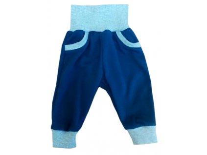 Tepláky modrošedé elastické