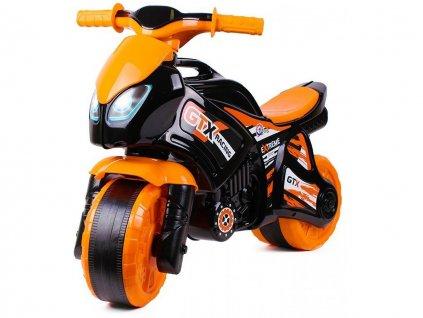 Dětské odrážedlo motorka oranžovo-černá