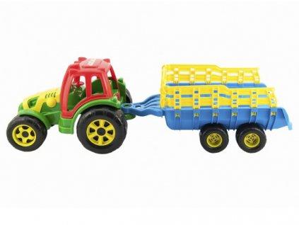 Traktor s vlekem plastový