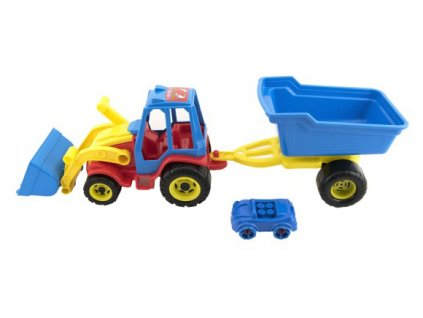 HRAČKY Traktor nakladač s valníkem a autíčkem