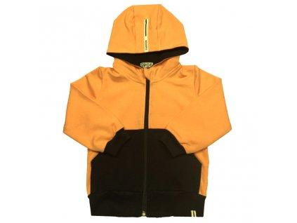 Dívčí/chlapecká tepláková mikina oranžová s kapucí