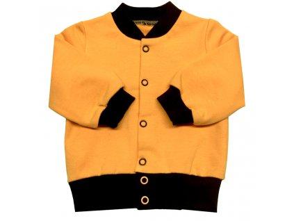 Dětská tepláková mikina oranžová se stojáčkem