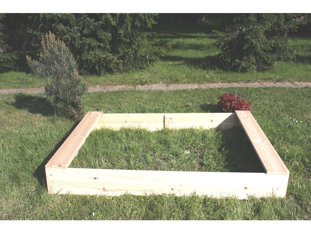 Dětské pískoviště dřevěné - obdélník 120x160x20 cm