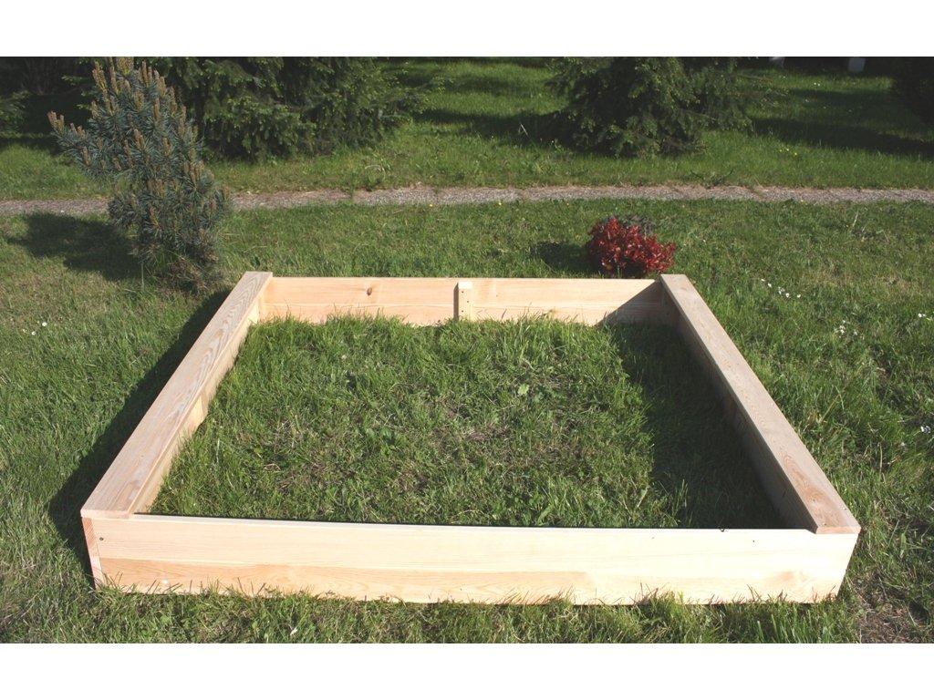 Dětské pískoviště dřevěné - obdélník 140x160x20 cm