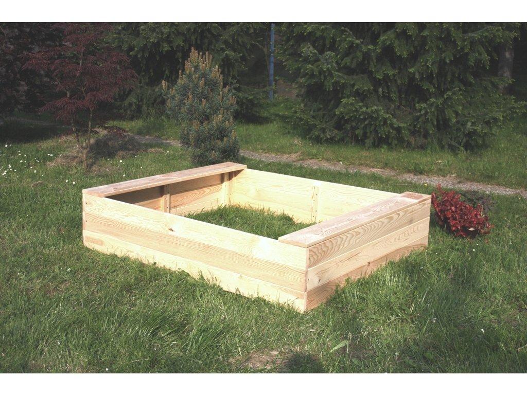 Dětské pískoviště dřevěné - obdélník 120x160x29 cm