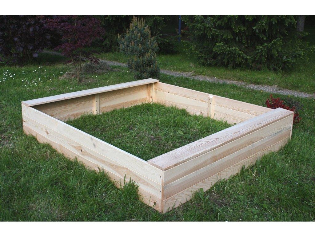 Dětské pískoviště dřevěné - obdélník 140x180x29 cm