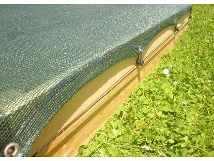 Krycí síť - zelená na pískoviště 140x160 cm + gumolano (7,0 m)