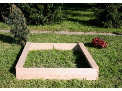 Dětské pískoviště dřevěné - čtverec - 120x120x20 cm