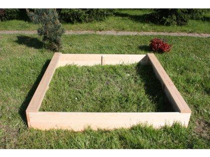 Dětské pískoviště dřevěné - čtverec 140x140x20 cm
