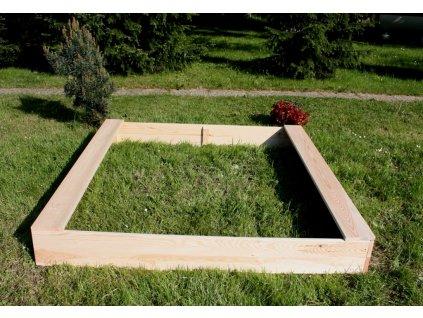 Dětské pískoviště dřevěné - čtverec 160x160x20 cm