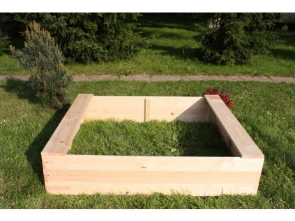 Dětské pískoviště dřevěné - čtverec 140x140x29 cm