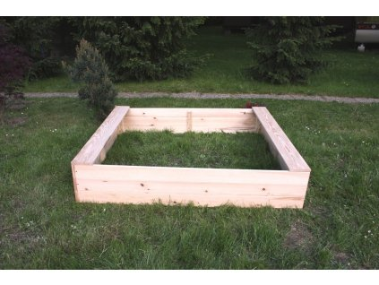 Dětské pískoviště dřevěné - čtverec 160x160x29 cm