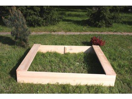 Dětské pískoviště dřevěné - obdélník 120x140x20 cm