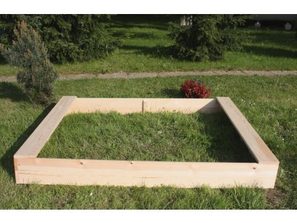 Dětské pískoviště dřevěné - obdélník 140x180x20 cm